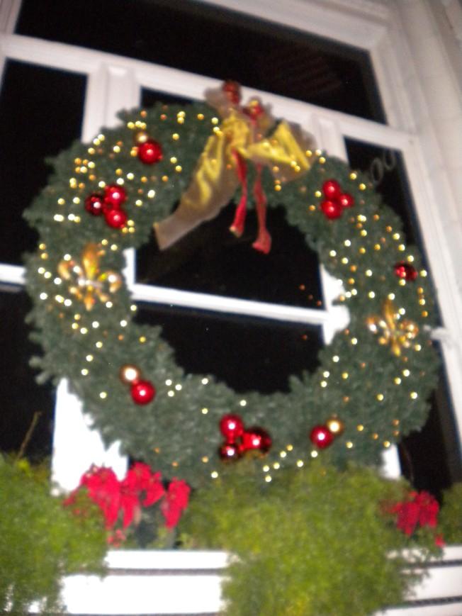 Roosevelt Hotel wreath, NOLA